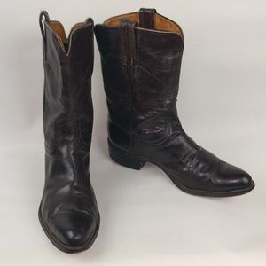 Vintage Frye Brown Leather Boots, Sz 9.5